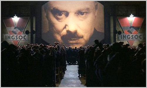 Escena de la pelicula 1984, basada en la novela de H.G. Wells.