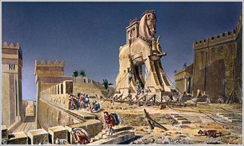 El caballo de Troya, una forma de terminar una guerra a lo grande.