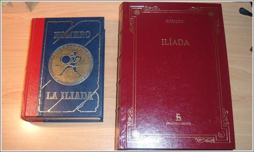 Dos ediciones distintas de Iliada.