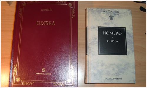 Dos ediciones distintas de Odisea.