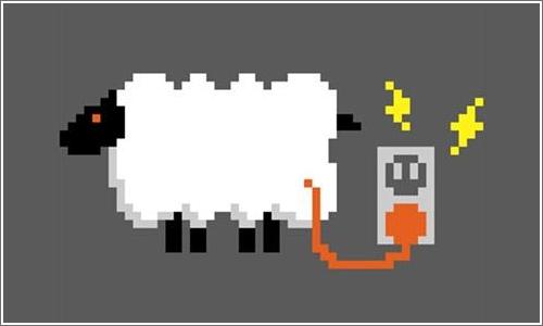 Una oveja eléctrica.