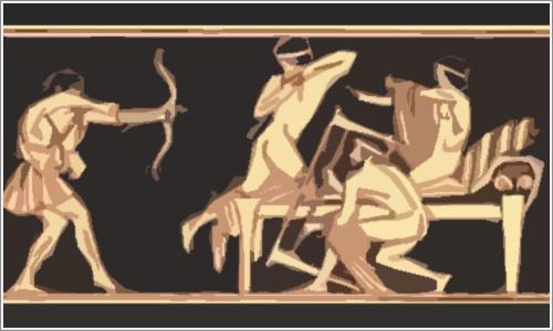 Ulises y los pretendientes de Penélope.