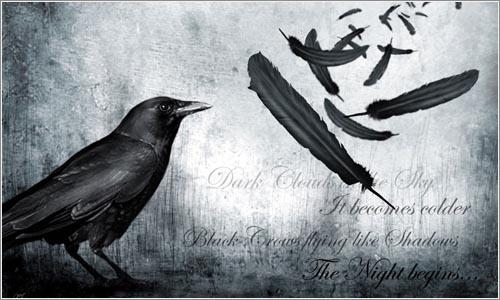 ... negros cuervos volando como sombras ... (The Raven, 1845)