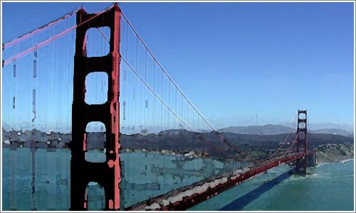 El Golden Gate, protagonista indiscutible de la historia.