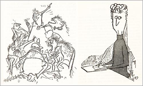 El libro está ilustrado por Robert C. Osborn, un conocido dibujante satírico norteamericano.