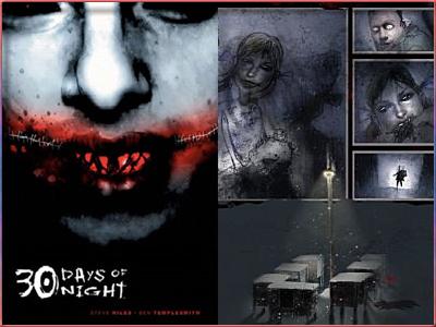 30 días de noche, de Steve Niles y Ben Templesmith (2002).