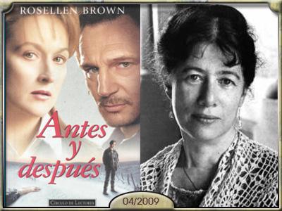 Antes y después, de Rosellen Brown.