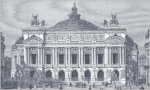 Palacio de la Ópera de París en el año 1875