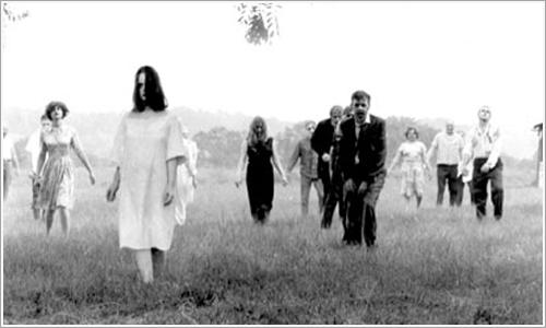 El lento arrastrar de pies de los zombies clásicos.
