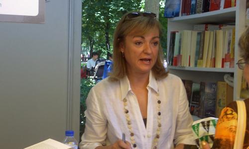 Cristina Morató en la 68 Feria del Libro de Madrid.