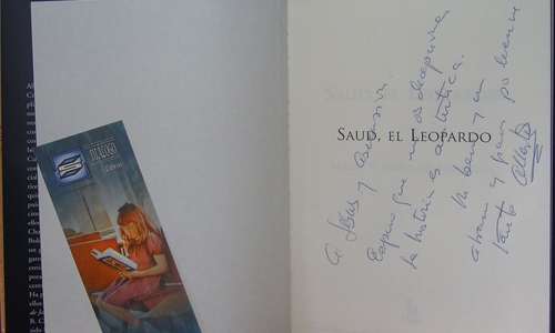 """El libro firmado. Como podréis observar, Ascen, con """"mucho morro"""" se coló en la dedicatoria, pero que conste que el libro es MíO y sólo MÍO"""