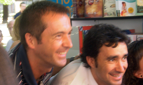 Juanma Castaño y Manu Carreño, autores del libro Podemos!