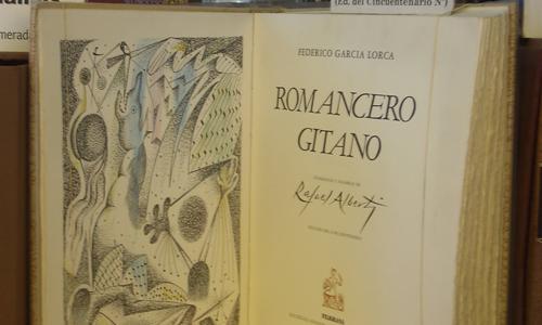 Ejemplar de colección del Romancero Gitano.