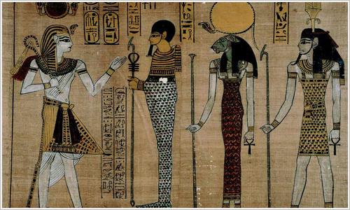 Papiro que representa a Ramsés III.